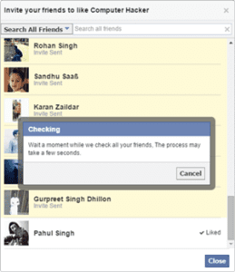 Invite All Friends To Like Facebook Page At Once