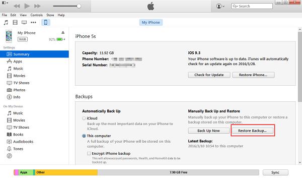 Unlock iPhone Passcode – Using iTunes