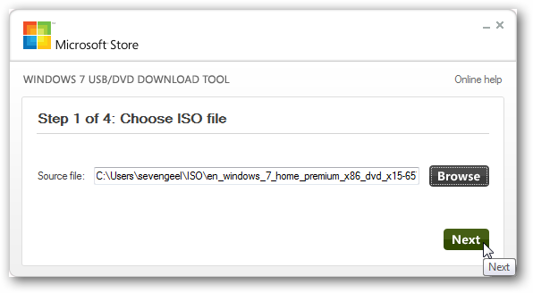 Creating Bootable USB Drive Using Windows USB/DVD Download Tool