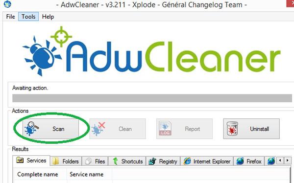 Using AdwCleaner - Remove Ask Toolbar