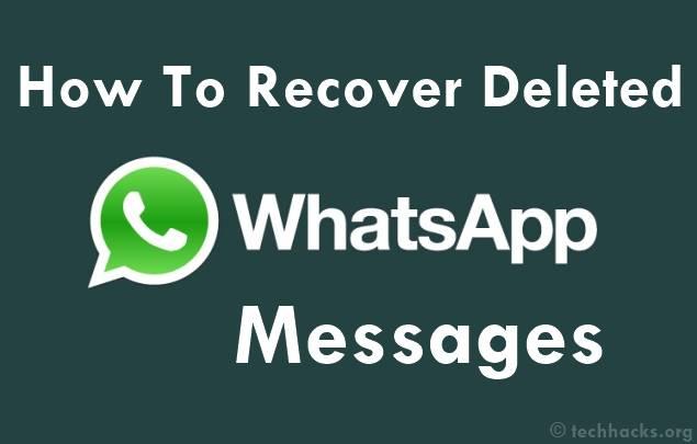 كيفية استرداد رسائل Whatsapp المحذوفة 2015
