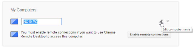 Remote Computer Access Using Google Chrome