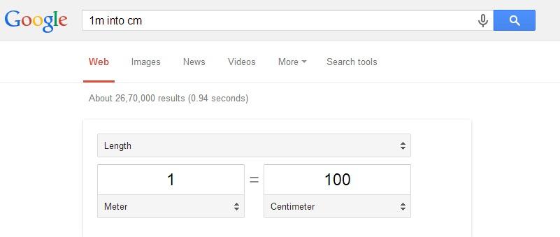 convert value google