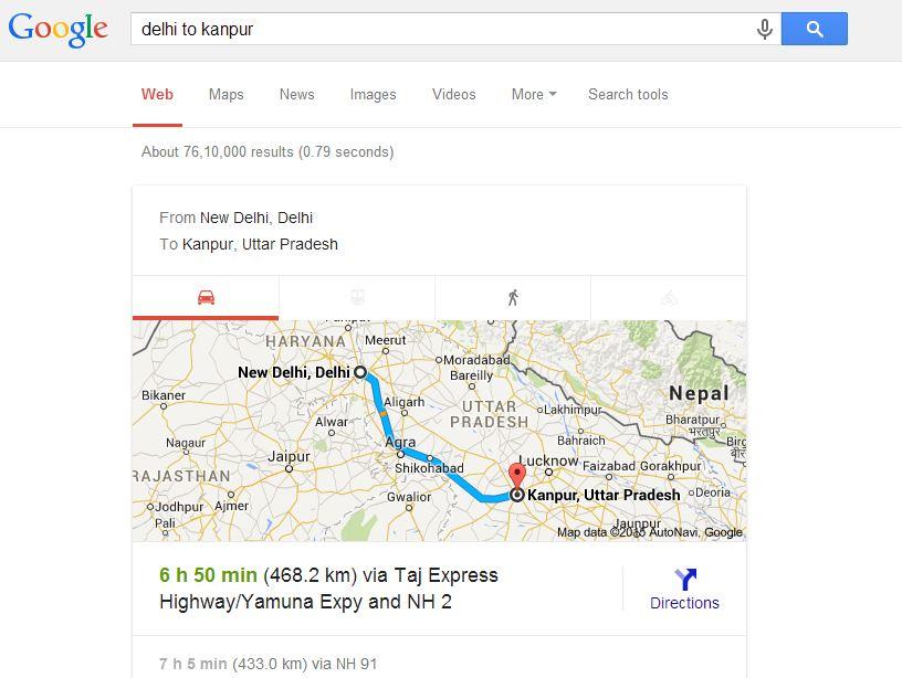 distance between cities