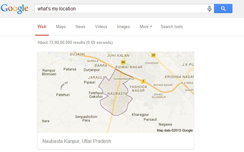 how to search google without location