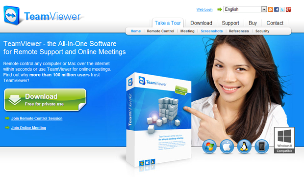 Download & install Teamviewer