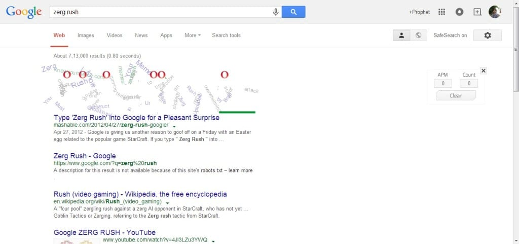 zerg rush in google