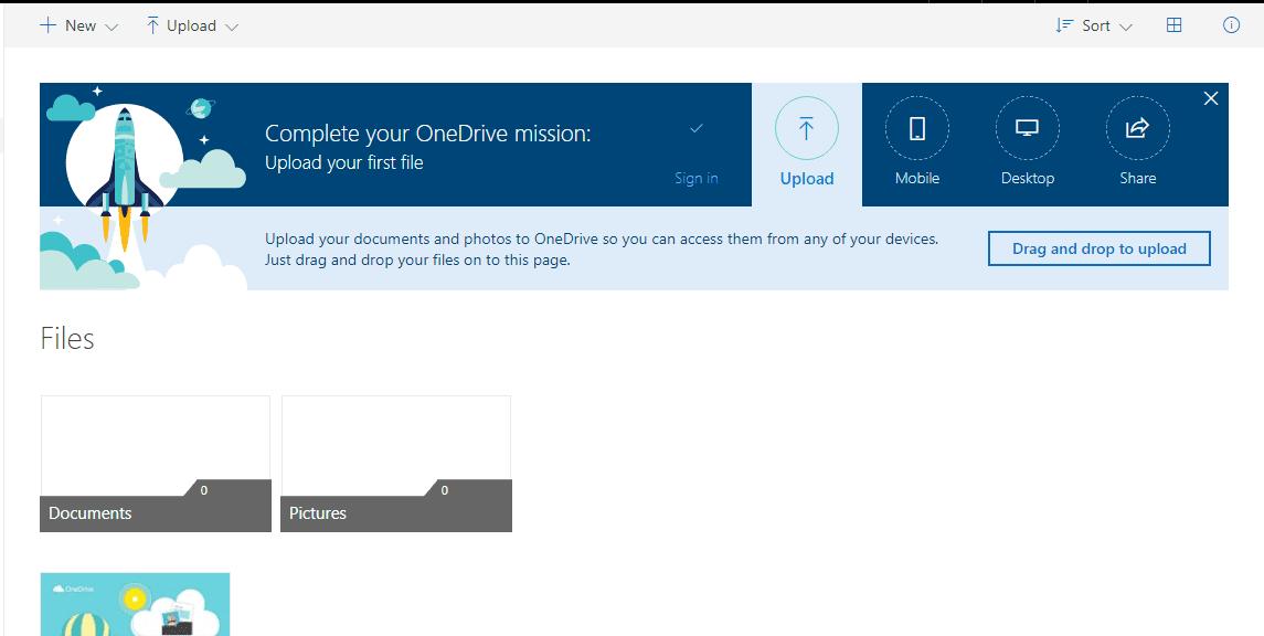 Using OneDrive