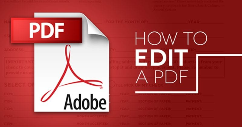 Edit Pdf Files For