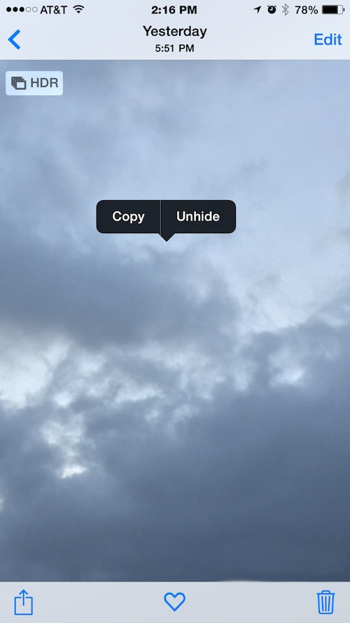 How to Unhide Photos