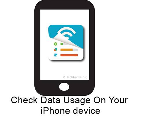 Check Data Usage On Your iPhone device