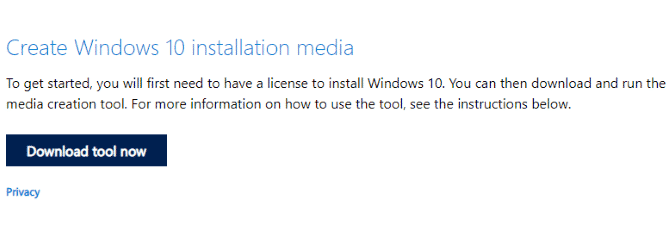 Install the Windows 10 Media Creation Tool