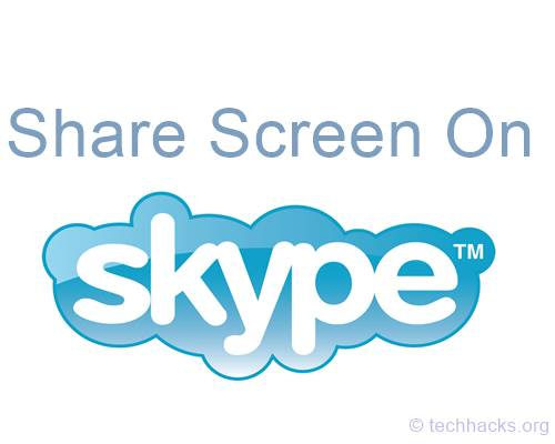 Share Screen On Skype