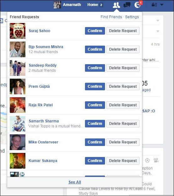 How To Accept/Reject All Facebook Requests At Once