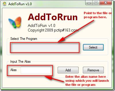 Using AddToRun