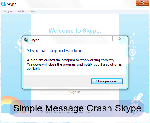 Bug In Skype Crashes It With A Simple Message