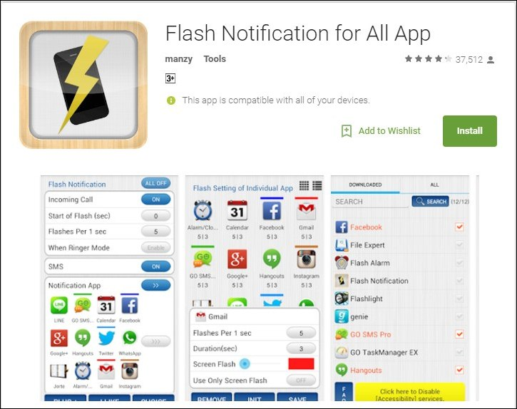 iphone flash notification how to use led flash as notification light on android or 11852