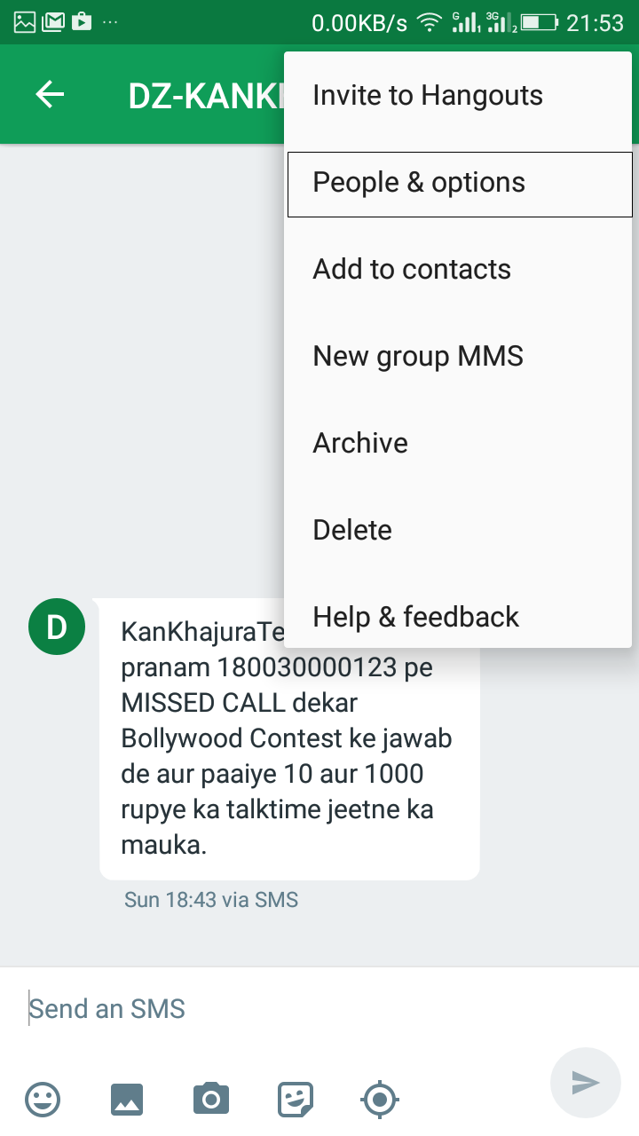 How To Block Spam Messages in Android Using Hangouts