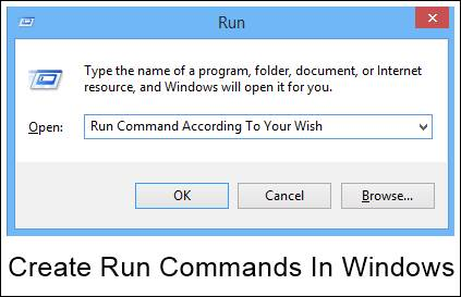 How To Create Run Commands In Windows