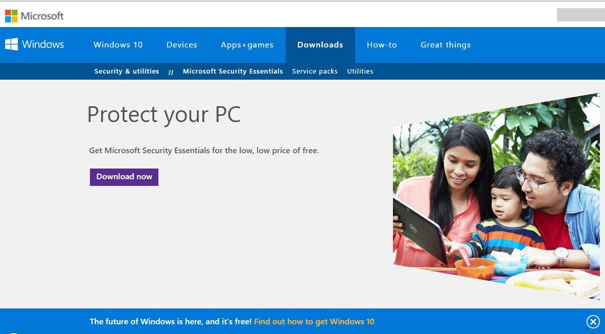 Install Microsoft Security Essentials (Antivirus)