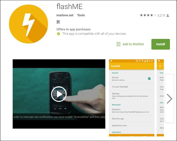 how to make iphone flash for notifications