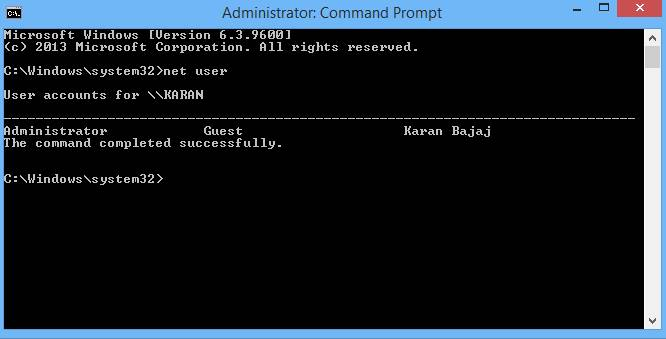 how to open cmd in windows 8 without login