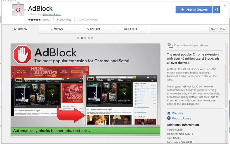 Using Ad Block