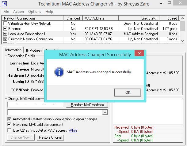 How to Change MAC Address in Windows 7, 8 & 10