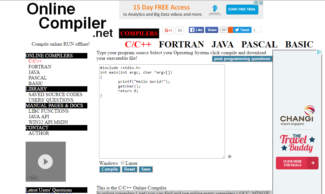 2020tech how you can run c c java programs without any Online c compiler and run with input