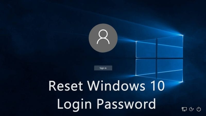 Reset Windows 10 Login Password