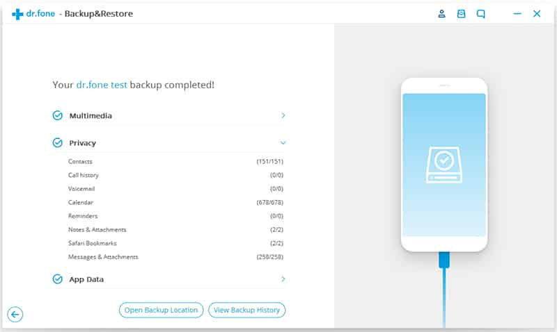 Using dr.fone - Backup & Restore