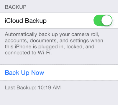 Using iCloud To Backup iPhone Contacts