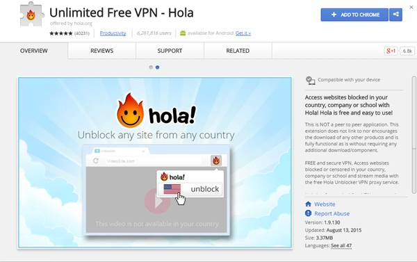 Top 20 best vpn for google chrome to access blocked sites 2018 hola vpn hola vpn bypass blocked sites 2018 ccuart Image collections