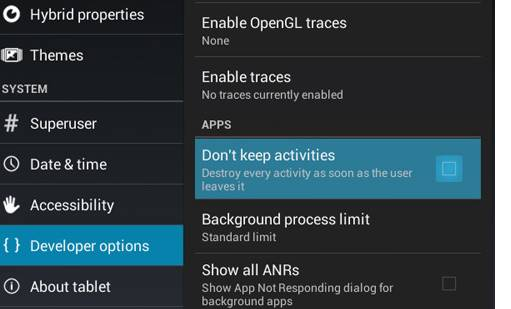 Stop Android Activities Completely After Closing It