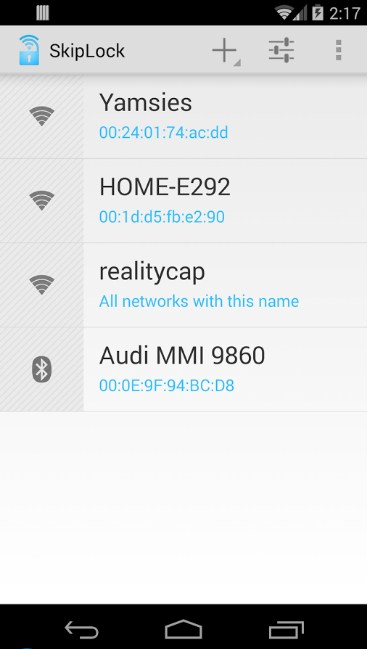 Unlock Android Device With Home Wifi