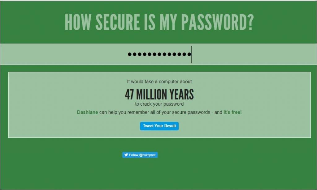 Check Online How Secure Is Your Password