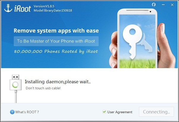 iroot for rooting android device