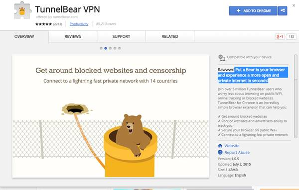 Top 20 best vpn for google chrome to access blocked sites 2018 tunelbear vpn ccuart Gallery