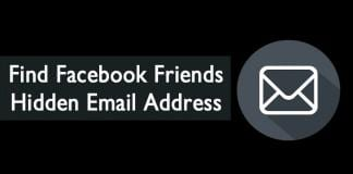 Find Facebook Friends Hidden Email Address
