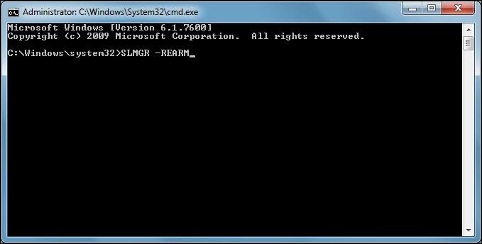 "Using CMD To Remove ""Windows Not Genuine"" Error"