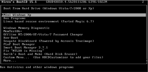 How To Recover Or Reset Windows 7 Forgotten Password With Hiren's Boot CD