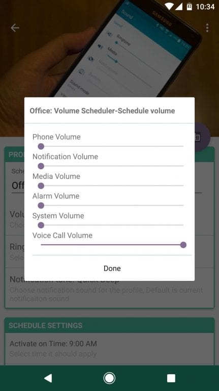 Using Volume Scheduler
