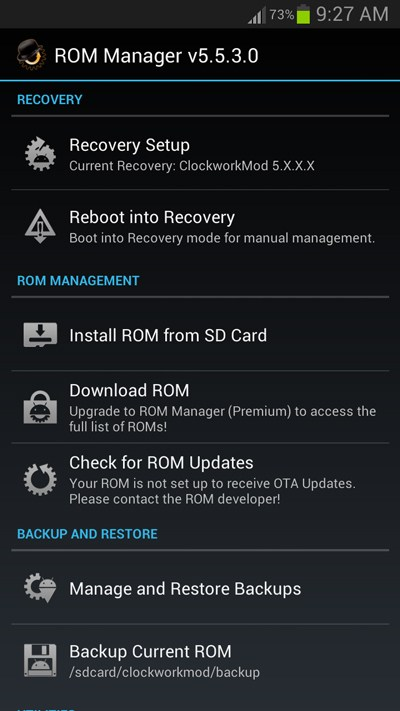 Installing Custom Rom Using Rom Manager App Or Clockworkmod