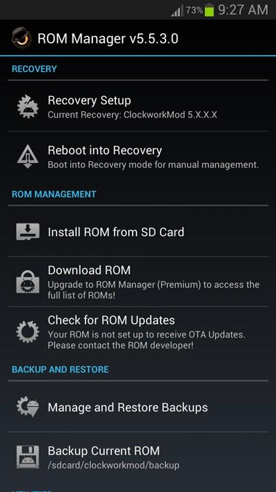 Installing Custom Rom Using Rom Manager App Or Clockworkmod