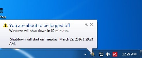 Make Your Computer Shutdown At Given Particular Time