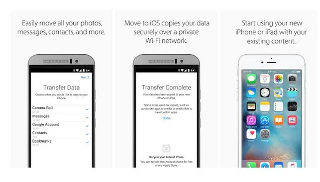 Move To iOS app To transfer data
