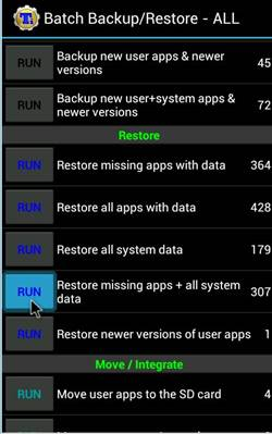Restoring Apps And Data Using Titanium Backup