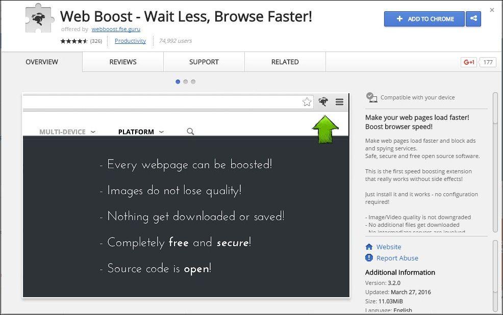 Web boost